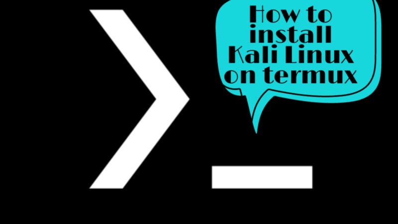 How to install kali Linux on termux without Root
